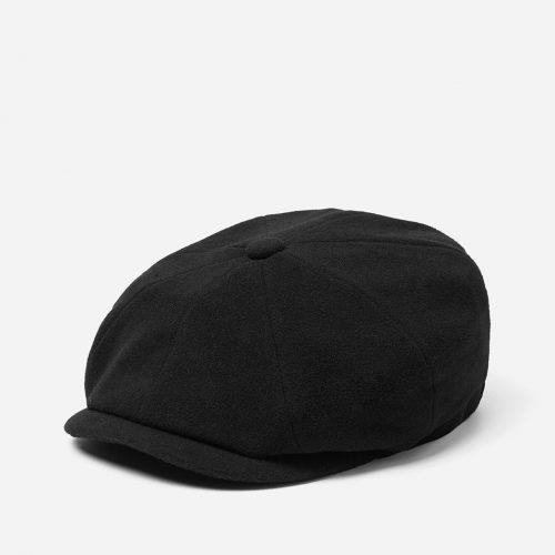 Stetson Hatteras Newsboy Cap (Wool/Cashmere) - Black