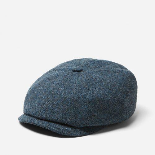 Stetson x Woolrich Hatteras Newsboy Cap (Wool) - Blue/Grey