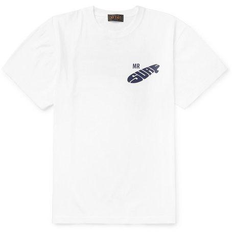 Beams Plus - Printed Cotton-jersey T-shirt - White