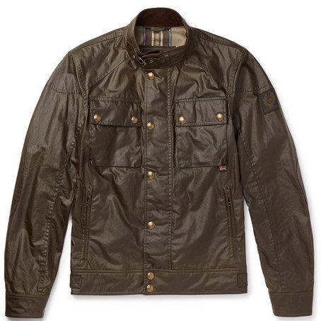 Mens Belstaff Racemaster Waxed-cotton Jacket in Brown