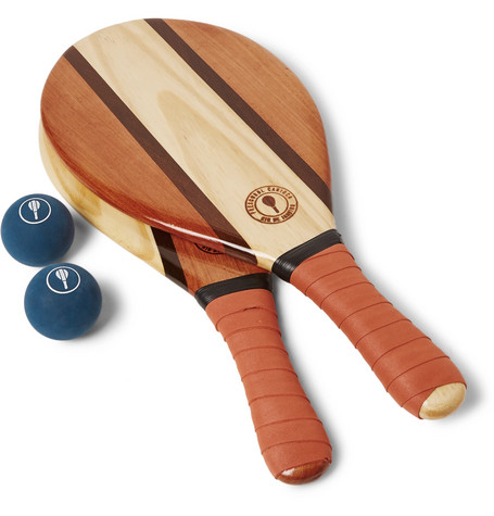 Frescobol Carioca - Trancoso Wooden Beach Bat And Ball Set - Orange