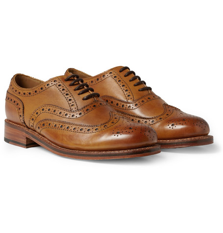 Grenson - Stanley Leather Wingtip Brogues - Tan