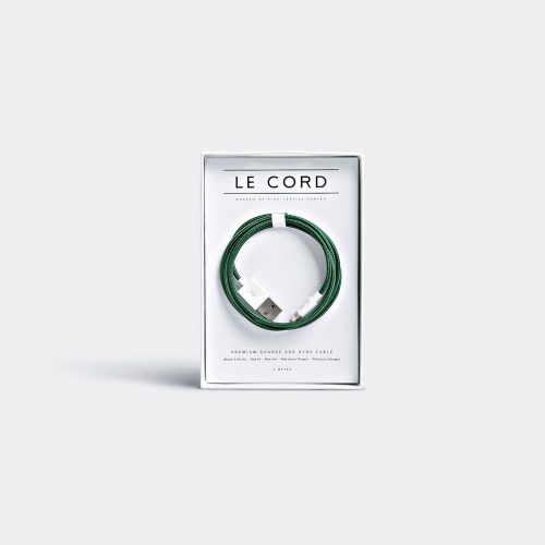 Le Cord Tech & Tools - Iphone cable in Solid spruce 75% nylon, 25% plastic