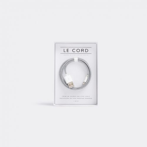 Le Cord Tech & Tools - Iphone cable in White, black 75% nylon, 25% plastic