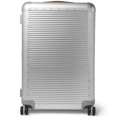 Mens Fabbrica Pelletterie Milano Spinner 76cm Aluminium Suitcase in Silver