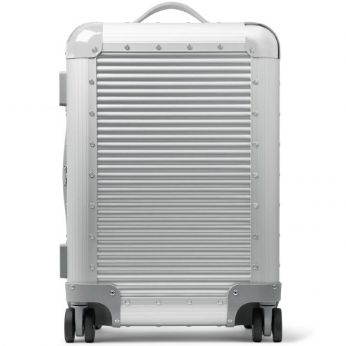 Mens Fabbrica Pelletterie Milano Bank S Spinner 53cm Aluminium Carry-on Suitcase in Moonlight Silver