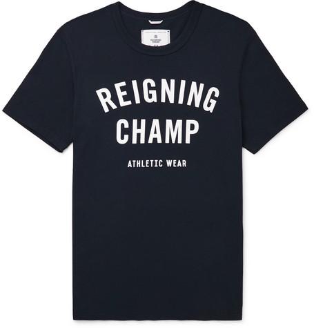 Reigning Champ - Logo-print Cotton-jersey T-shirt - Navy