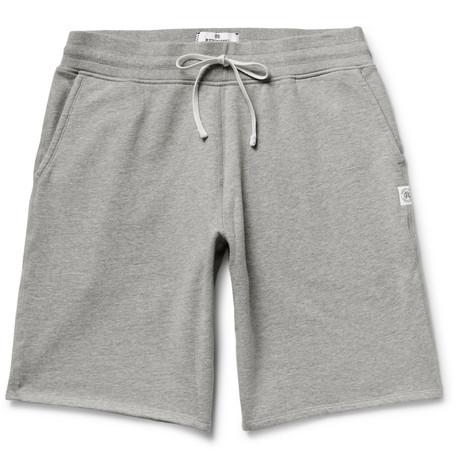 Reigning Champ - Loopback Cotton-jersey Drawstring Shorts - Gray