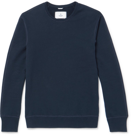 Reigning Champ - Loopback Cotton-jersey Sweatshirt - Navy