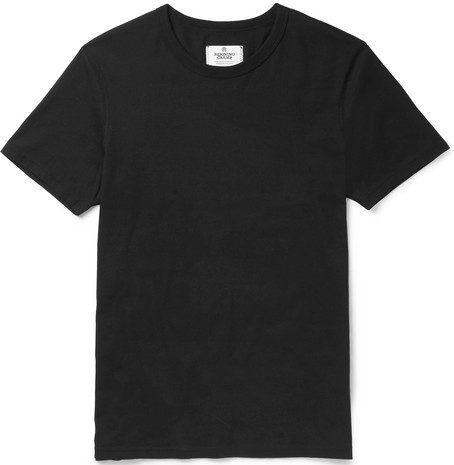 Mens Reigning Champ Ring-spun Cotton-jersey T-shirt in Black