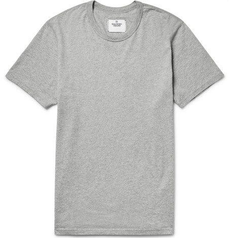 Mens Reigning Champ Ring-spun Cotton-jersey T-shirt in Light Grey