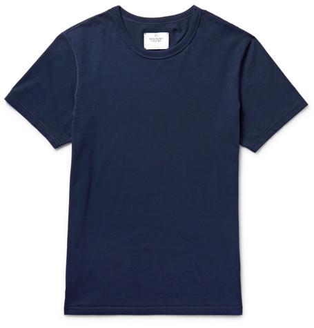 Reigning Champ - Ring-spun Cotton-jersey T-shirt - Midnight blue