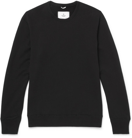 Reigning Champ - Slim-fit Loopback Cotton-jersey Sweatshirt - Black