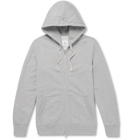 Reigning Champ - Slim-fit Mélange Loopback Cotton-jersey Zip-up Hoodie - Gray