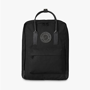 Fjallraven Kanken 2 Leather Trim Backpack Black