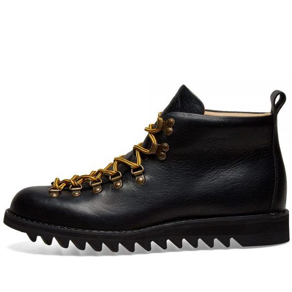 Mens Fracap M120 Black Ripple Sole Scarponcino Boot in Black