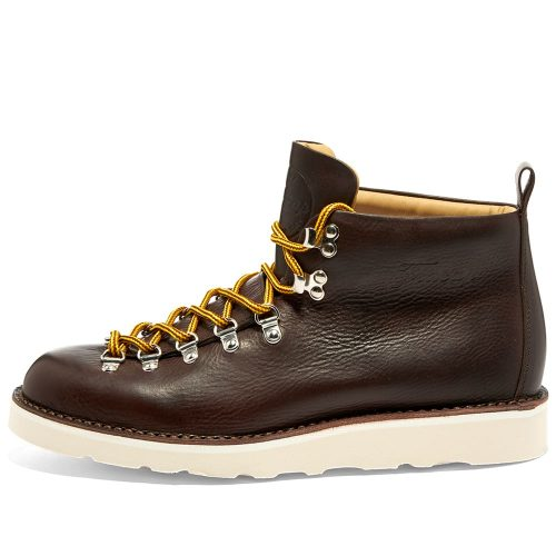 Mens Fracap M120 Cristy Vibram Sole Scarponcino Boot in Dark Brown.