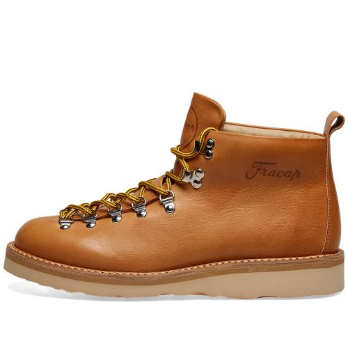 Mens Fracap M120 Vibram Sole Scarponcino Boot in Tan Brown