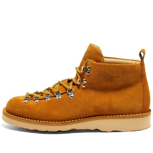 Mens Fracap M120 Natural Vibram Sole Scarponcino Boot in Camel Suede