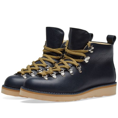Mens Fracap M120 Natural Vibram Sole Scarponcino Boot in Navy