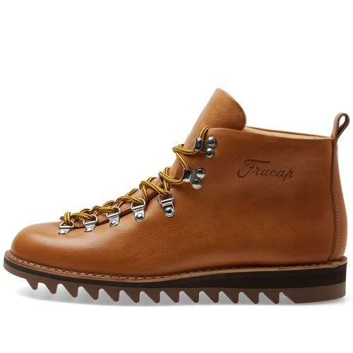 Mens Fracap M120 Ripple Sole Scarponcino Boot in Tan Brown