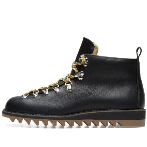 Mens Fracap M120 Ripple Sole Scarponcino Boot in Black