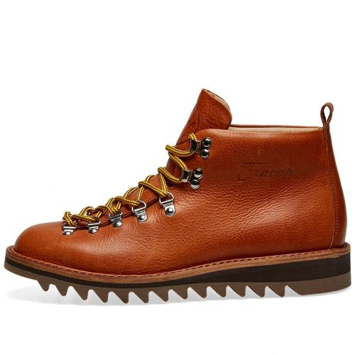 Mens Fracap M120 Ripple Sole Scarponcino Boot in Brandy Brown