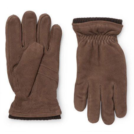 Mens Hestra Nathan Suede Gloves