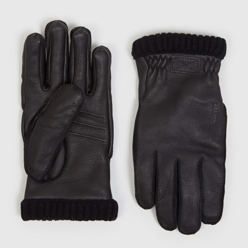 Mens Hestra Primaloft Rib Gloves in Black