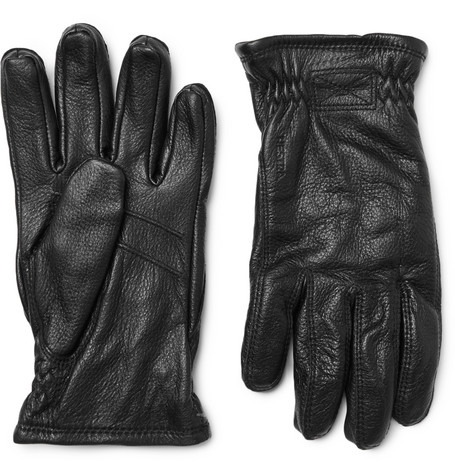 Hestra - Sarna Full-grain Leather Gloves - Black