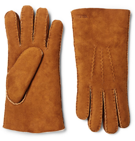 Hestra - Shearling Gloves - Brown