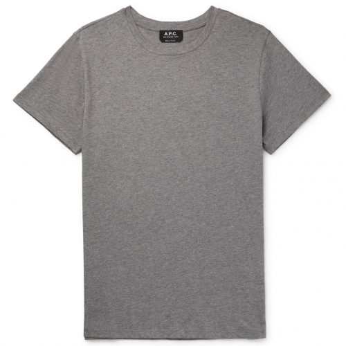 MensA.P.C. Jimmy Cotton-jersey T-shirt in Gray
