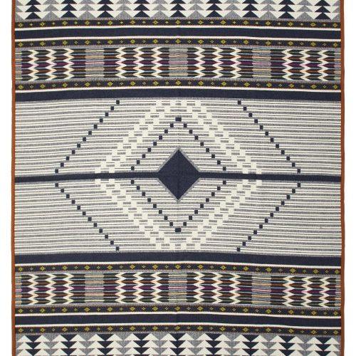 Pendleton - Spirit Seeker Wool And Cotton Blend Blanket - White Black