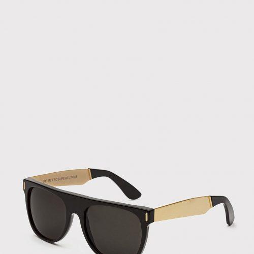 Super Flat Top Francis Sunglasses - Black/Gold