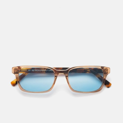 Mens SUPER by RETROSUPERFUTURE Regola Sunglasses in Gazzetta Brown / Blue