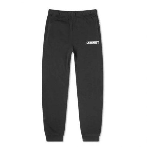 Mens Carhartt College Sweat Pant in Black