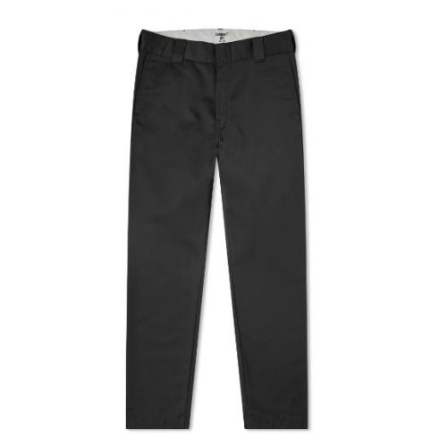 Mens Carhartt Master Pant Chino Trousers in Black Rinsed