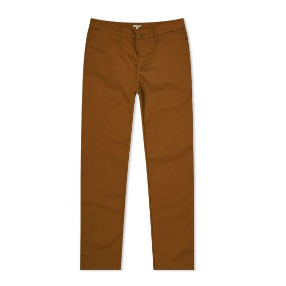 Mens Carhartt Sid Pant Chino Trousers in Hamilton Brown