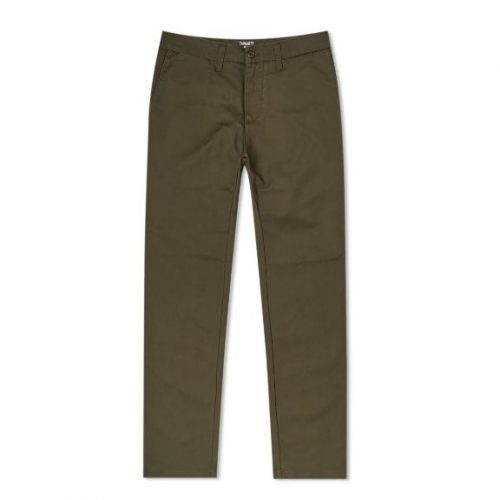 Mens Carhartt Sid Pant Trousers in Cypress Green