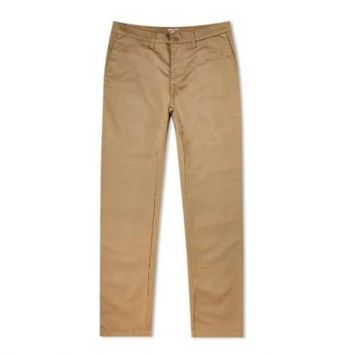 Mens Carhartt Sid Pant Trousers in Leather Rinsed Tan