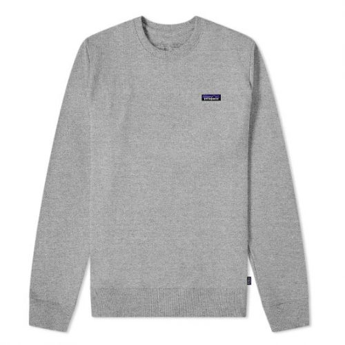 Patagonia P-6 Label Uprisal Crew Sweatshirt Grey Heather