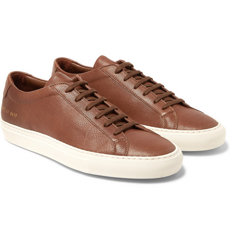 Common Projects - Original Achilles Full-grain Leather Sneakers - Brown