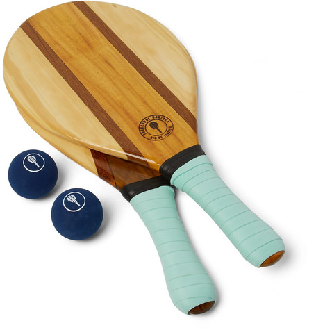 Frescobol Carioca - Trancoso Wooden Beach Bat And Ball Set - Green