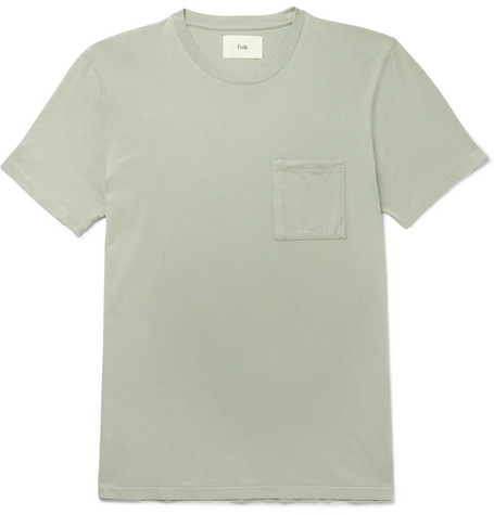 Folk - Assembly Slim-fit Cotton-jersey T-shirt - Green