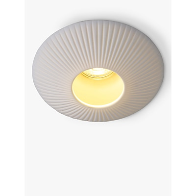 Original BTC Sopra Ridged Flush Ceiling Light, White
