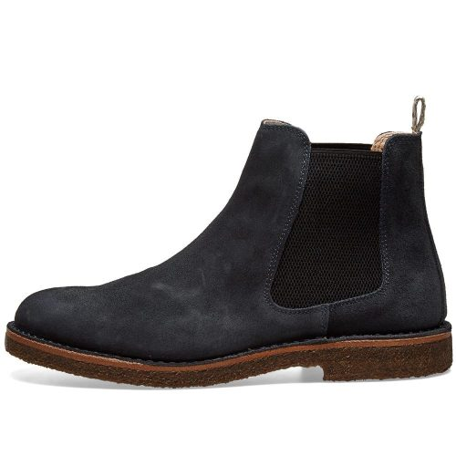 Mens Astorflex Bitflex Chelsea Boot in Blue Suede