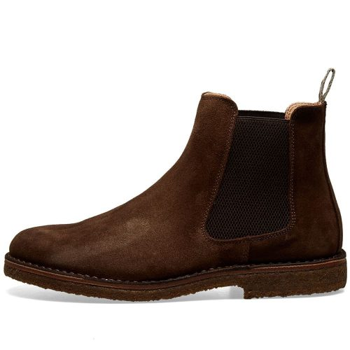 Mens Astorflex Bitflex Chelsea Boot in Chestnut Brown Suede