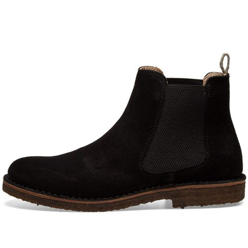 Mens Astorflex Bitflex Chelsea Boot in Black Suede