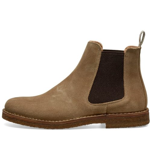 Mens Astorflex Bitflex Chelsea Boot in Stone Suede