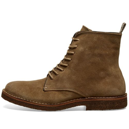 Mens Astorflex Bootflex Boot in Stone Suede